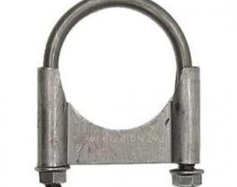Nova Exhaust Muffler Clamp, Guillotine Style, Steel, 2-1/4, 1967-1969