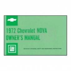 Nova Owner's Manual, 1972
