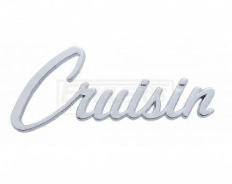 Nova And Chevy II Cruisin Script Emblem, Chrome, 1962-1979