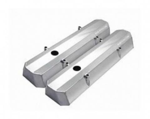 Nova Valve Covers, Fabricated Aluminum, Short Style, Small Block, 1962-1979