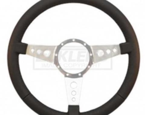 Nova And Chevy II Steering Wheel, Volante S9, Black Leather, 1962-1979