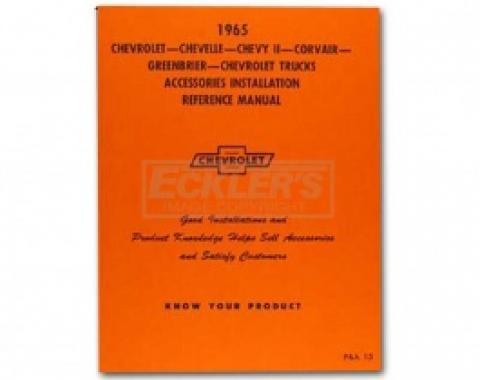 Nova Chevy II Accessories Installation Manual, 1965