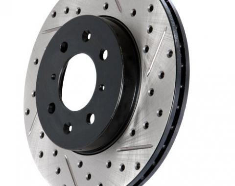 Stop Tech / Power Slot 127.62000R, Brake Rotor, SportStop (R) Drilled And Slotted, One Piece Design, Wheel Bolt Pattern 5 x 120.6 Millimeter, 279.3 Millimeter Outside Diameter x 101.5 Millimeter Height x 26.3 Millimeter Nominal Thickness