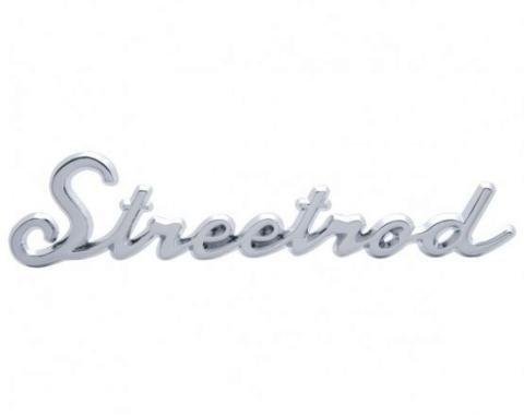"United Pacific Chrome ""Streetrod"" Script Emblem With Stud A6202"