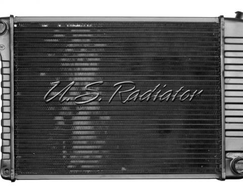Nova And Chevy II US Radiator, Copper And Brass, High Efficiency, For Cars With Big Block 396CI, Manual Transmission, Four Row, 1968-1971