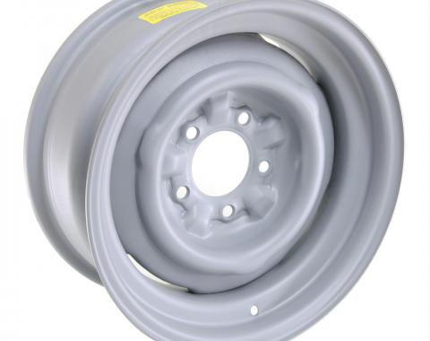 GM Factory Style Stamped Steel Wheel, Gray, 15x6