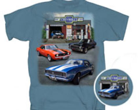 Super Chevrolet Service, Muscle Garage, T-Shirt