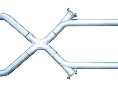 Pypes Xchange X-Pipe Crossover Kit Intermediate Pipe 3 in Hardware Incl Natural 409 Stainless Steel Exhaust XVX13