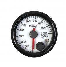 Holley Analog Style Fuel Pressure Gauge 26-608W
