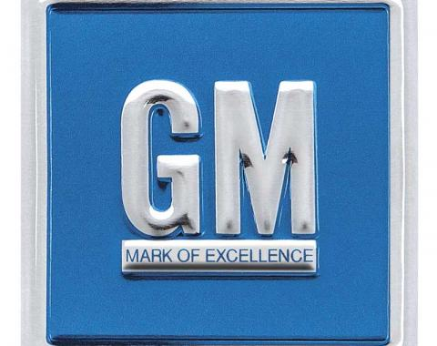 OER 1967-74 GM Mark Of Excellence Emblem Door Decal - Embossed Blue PD8001
