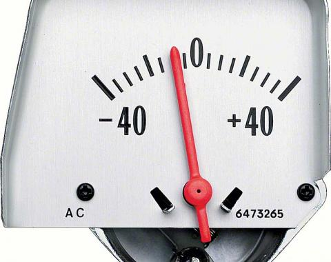 OER 1968-76 Silver Console Amp Gauge 6473265