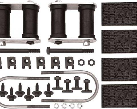 OER 1967-74 GM Multi-Leaf Rear Leaf Spring Installation Kit - with Sway Bar - Various Models R361