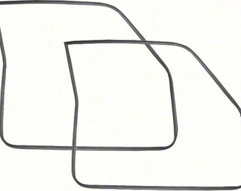 OER 1968-72 Chevy II / Nova 2Dr Door Frame Weatherstrips - Pair K443
