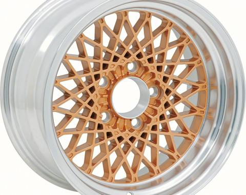 "OER 16"" X 8"" Gold GTA Style Alloy Wheel with 4-3/4"" Backspacing and 0mm Offset 10104406"