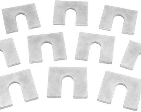 """OER Body Mount Shims, 1/8"""" Thick, 1-1/4"""" x 1-1/8"""" , with 3/8"""" Bolt Slot, Zinc Plated, 10 Piece Set C2004"""