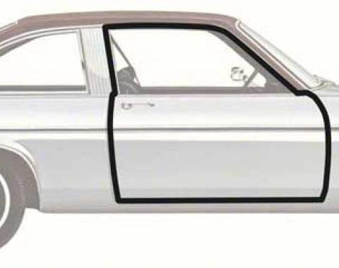 OER 1973-79 Nova 2 Door Coupe Door Frame Weatherstrips K445