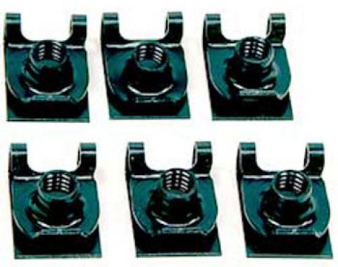 OER 1967-81 6 Piece Spring Eye Bracket Nut Kit *K3613