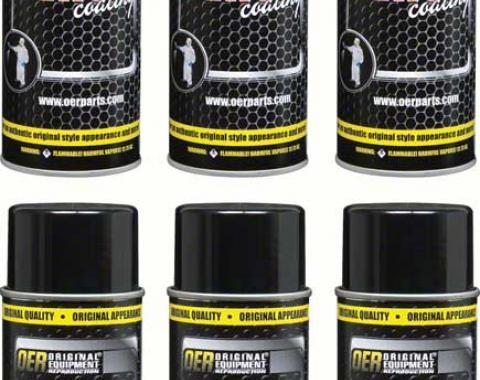 "OER ""Factory Black"" Low Gloss Black Paint Case of 6 - 16 Oz Aerosol Can *K89592"