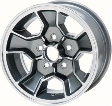 """OER Z28 N90 Style 14"""" X 7"""" Aluminum Wheel 5 x 4-3/4"""" Bolt Pattern 4-1/4"""" Backspace - Each 14022116"""