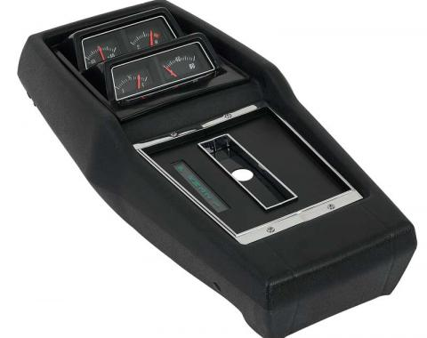 OER 1968-72 Chevy II Nova, Console Assembly, AT Turbo, with Console Gauges, Pre-Assembled R687204