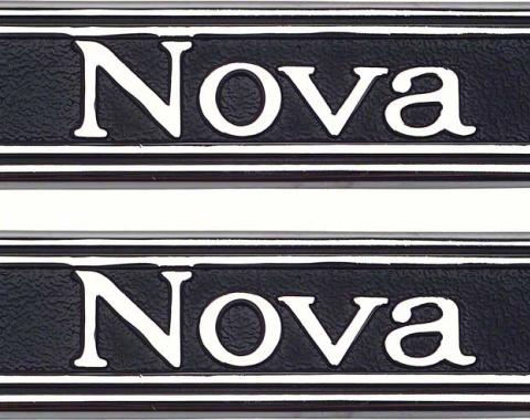 "OER 1969-72 ""Nova"" Custom Interior Door Panel Emblems 7790751"