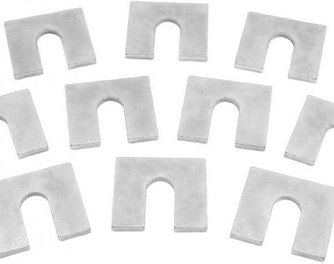 """OER Body Shims, 1/16"""" Thick, 1-1/4"""" x 1-1/8"""", with 3/8"""" Bolt Slot, Zinc Plated, 10 Piece Set C2005"""