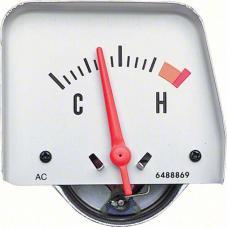 OER 1968-69 Silver Console Temperature Gauge 6489836