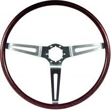 """OER 1969-70 16"""" Simulated Rosewood Steering Wheel 3960722"""